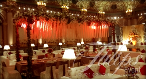 Grand Walima Stage Decoration Setup Planner in Lahore Pakistan 10