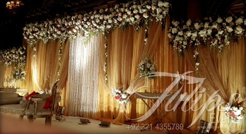Grand Walima Stage Decoration Setup Planner in Lahore Pakistan 14