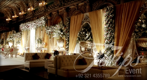 Grand Walima Stage Decoration Setup Planner in Lahore Pakistan 19